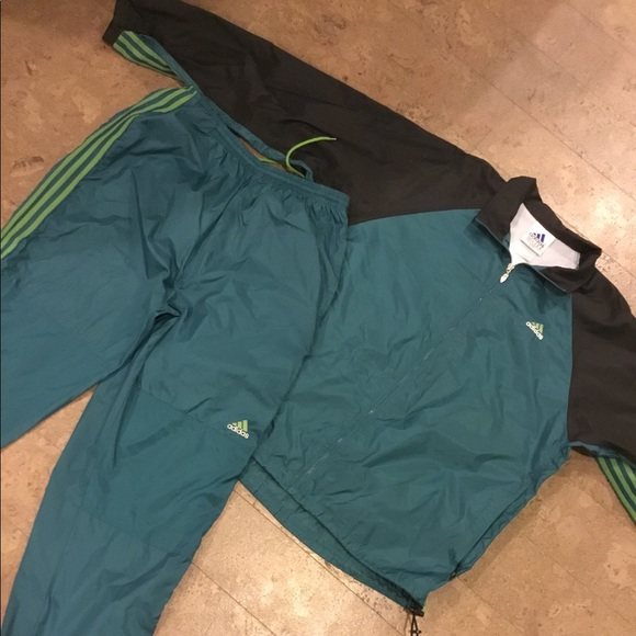 6342912446137 adidas Other - VINTAGE ADIDAS tracksuit windbreaker green 90s XL